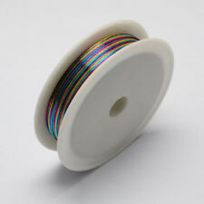 Iron Wire Colorful 1Roll 0.3mm approx. 20m/roll Steel Wire Cable Jewelry Making