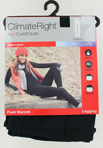 New Climate Right Cuddl Duds Base Layer Plush Warmth Legging - Black - XSmall