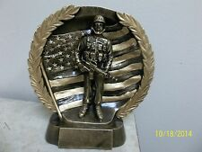"Military award, trophy, heavy resin, with engraving, 7"" tall, recognition, etc."