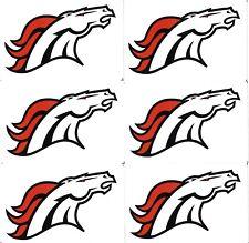 LOT OF 6 DENVER BRONCOS NFL LOGO STICKERS NFL LICENSED