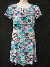 WOMENS NEW SOUTH FLORAL PRINT CUT OUT T SHIRT FASHION DRESS SIZE 16 NEW WITH TAG