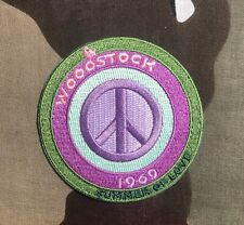 Woodstock Peace Sign Embroidered Patch W014P Hendrix Joplin Ccr Country Joe