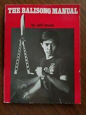 The Balisong Manual by Jeff Imada 1st Ed (1984) Filipino Martial Arts Inosanto