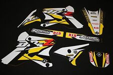 SUZUKI DRZ 400 PTS THREE FLU MX GRAPHICS KIT DECALS KIT STICKER KIT STICKERS
