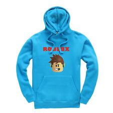 Roblox Face Kids Hoodie Hooded Sweatshirt Gaming Gamer Boys Girls