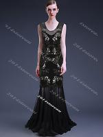 Flapper Dress 1920s Long Prom Wedding Evening 20s Vintage Gatsby Size 8 10 12 14