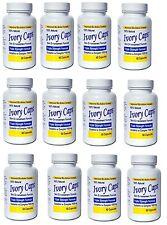 12 Ivory Caps Glutathione Skin Whitening 1500mg 720 Caps Exp 06/2020