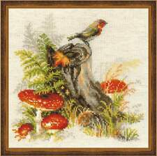 """Counted Cross Stitch Kit RIOLIS - """"Stump with Fly Agaric"""""""