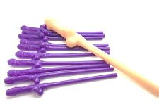 24 purple willy straws jumbo willy straw hen night stag night accessory bride