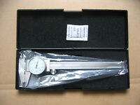 """6"""" Inch Stainless Steel  Dial Caliper .001"""" Shock Proof SAE 4-Way Measurement"""