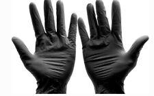 Black NITRILE GLOVES XL Powder FREE Latex FREE XL Food Service Grade 100ct
