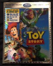 Disney TOY STORY 3D Blu-ray/Dvd/Digital 4-Disc Set RARE Lenticular Slipcover OOP