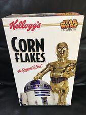 2005 Kellogg's CORN FLAKES-Star Wars: Episode III R2-D2 & C3PO Cereal Box EMPTY