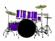BLUE Collectible Mini Drum Set 11pc Instrument for Wellie Wishers LOVV LOVVBUGG!