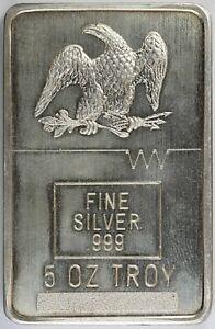 CMX Seattle - 5 oz .999 Fine Silver Bar / Ingot Vintage