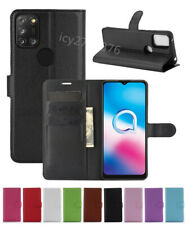NEW Leather slot wallet stand flip Cover Skin Case For Alcatel 3X (2020)