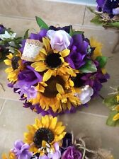 WEDDING FLOWERS sunflower bouquets bridal decorations add RECEPTION