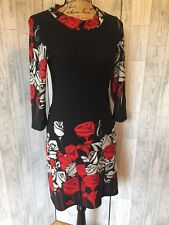 Culture Black Dress With Rose Pattern NWOT 10