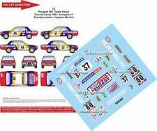 DECALS 1/18 REF 72 PEUGEOT 505 LAURENT RALLYE ACROPOLE 1981 RALLY WRC