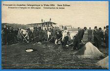 CPA: Prisonniers français en Allemagne - Construction de tentes / Guerre 14-18
