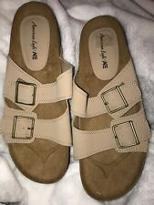 *NEW* American Eagle Men's Suede Double Buckle Sandals Size 12