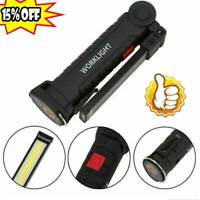 USB COB LED Magnetic Work Light Car Garage Mechanic Home Rechargeable Torch-Lamp