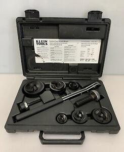 KLEIN Tools 53732-SEN Knockout Punch Set w/ Ratcheting Wrench 53732SEN
