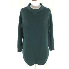 Athleta Womens Sweater Tunic Long Ribbed Green Oversize Size S