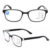 Unisex Anti Blue Light Lens Frame Eyewear Progressive Multifocal Reading Glasses