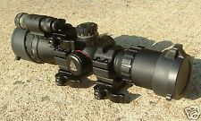 Compact Rifle Scope with Laser Combo + QD Laser mount UTG 3-9X32 Bug Buster
