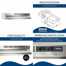 Broan-NuTone 413004 Ductless Range Hood Insert with Light, Under 30-Inches