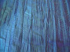 CREASED TAFFETA-PETROL BLUE-  DRESS/CRAFT FABRIC -FREE P+P