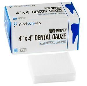 1000 4x4 Non Woven Sponges 4-Ply, Non-Sterile Cotton Dental Gauze Pads