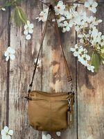 Tignanello Cognac Brown Leather Crossbody