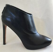 New Nine West Navajoe Black Leather Booties Stilettos sz 10 M