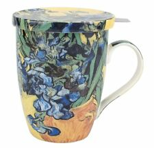 McIntosh Fine Bone China Van Gogh Iris Tea Mug w/(Diffuser and Lid)