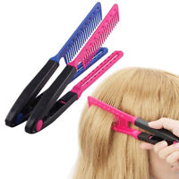 DIY Salon V Styling Hair Straighteners Brush Straightening Comb HairdressingT QA
