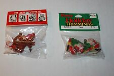 Vintage Santa Claus Christmas Accessory Figures NIP