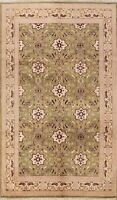 6x9 Geometric Traditional Savonnerie Area Rug Wool Hand-knotted Oriental Carpet