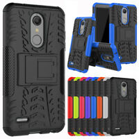 For LG Premier Pro Case with Kickstand Hybrid Shockproof Rugged Armor Back Cover