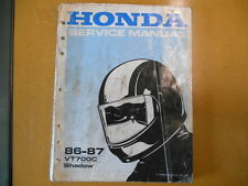 1986 - 1988 Honda VT700C Shadow Factory Service Shop Repair Manual