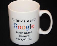Personalised Mug, Birthday Gift, Google, Personalised,  all occasions handmade