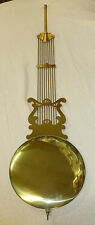 BRASS LYRE 94cm PENDULUM FOR EMPEROR OR HERMLE/RIDGEWAY GRANDFATHER CLOCK 2551