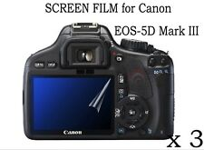 3X Clear LCD Screen Protector Film Cover for Canon EOS 5D Mark III Digital SLR