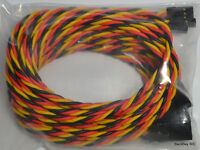(5) JR / Hitec Servo Extension Leads with 100CM (~40in) 22awg Twisted Wire