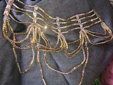 Swarovski Collar hecho a mano para salón de baile latino o