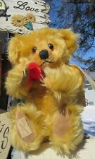 "VINTAGE 12"" MOHAIR TEDDY BEAR DEANS RAG BOOK NEIL MILLER LE 3 RARE TAGS UK NICE"