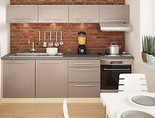 Küche Komplett Küchenzeile Küchenblock 210cm jersey / beige matt 16900