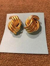 Earrings Made In Usa (Bl) Handmade Handcrafted Gold Toned Layered Pierced