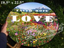 FAITH, HOPE, LOVE oval poster